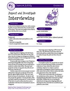 Interviewing Activities & Project