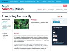 Introducing Biodiversity Lesson Plan