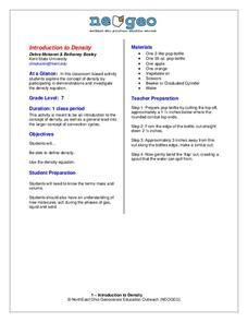 Introduction to Density Activities & Project