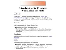 Introduction to Fractals: Geometric Fractals Lesson Plan