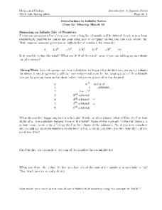 Introduction to Infinite Series Worksheet
