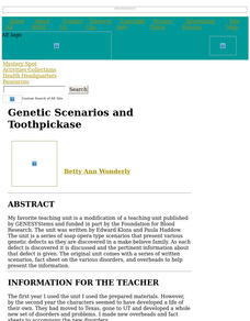 Genetic Scenarios and Toothpickase Lesson Plan