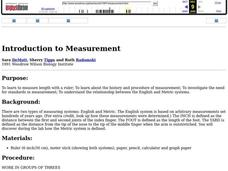 Introduction to Measurement Lesson Plan