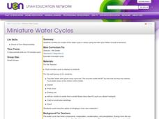 Miniature Water Cycles Lesson Plan