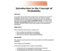 Introduction to the Concept of Probability Lesson Plan