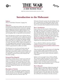 Introduction to the Holocaust Lesson Plan