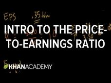 Introduction to the Price-to-Earnings Ratio Video