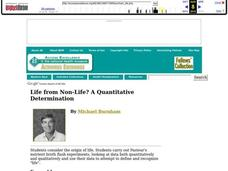 Life from Non-Life? A Quantitative Determination Lesson Plan