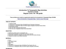 Introduction To Topographic Map Activities Lesson Plan