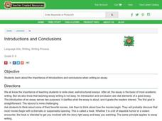 Introductions and Conclusions Lesson Plan