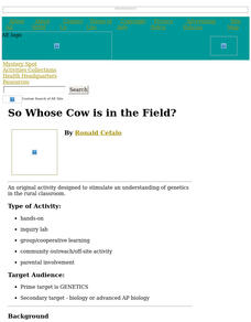 So Whose Cow is in the Field? Lesson Plan