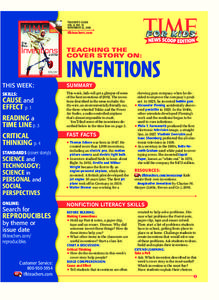 Inventions Lesson Plan