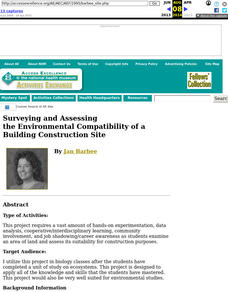 Surveying and Assessing the Environmental Compatibility of a Building Construction Site Lesson Plan
