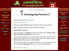 Investigating Patterns Lesson Plan