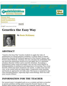 Genetics the Easy Way Lesson Plan