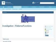 Investigation - Patterns/Functions Lesson Plan
