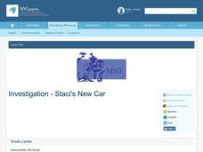 Investigation - Staci's New Car Lesson Plan