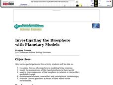 Investigating the Biosphere With Planetary Models Lesson Plan