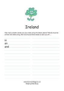 Ireland Worksheet