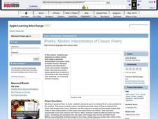iPoetry: Modern Interpretation of Classic Poetry Lesson Plan