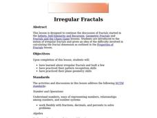 Irregular Fractals Lesson Plan