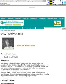 DNA Jewelry Models Lesson Plan