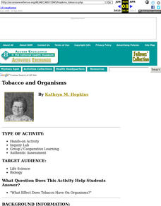 Tobacco and Organisms Lesson Plan
