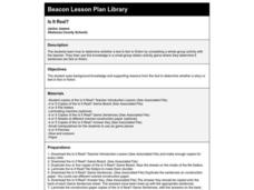 Is It Real? Lesson Plan