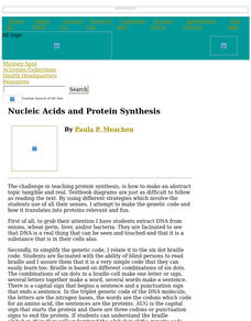 Nucleic Acids and Protein Synthesis Lesson Plan