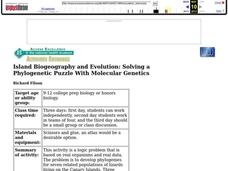 Island Biogeography and Evolution Lesson Plan