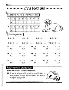It's a Dog's Life Worksheet