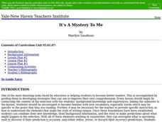 It's a Mystery to Me Lesson Plan
