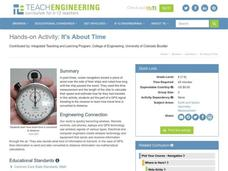 It's About Time Lesson Plan