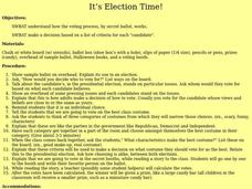It's Election Time! Lesson Plan