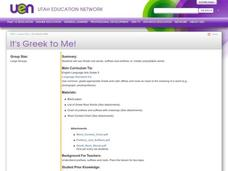 It's Greek to Me! Lesson Plan