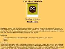 It's Raining Meatballs Lesson Plan