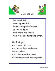 Jack and Jill Worksheet