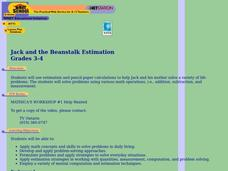 Jack and the Beanstalk Estimation Lesson Plan