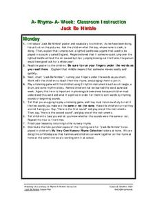 Jack Be Nimble Lesson Plan