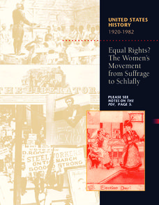 Equal Rights? The Woman's Movement from Suffrage to Schlafly Lesson Plan