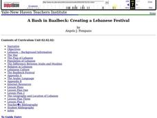 A Bash in Baalbeck: Creating a Lebanese Festival Lesson Plan
