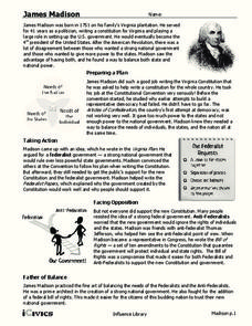 James Madison Handouts & Reference