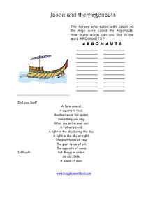 Jason and the Argonauts Worksheet