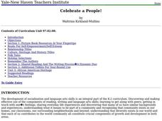 Celebrate A People! Lesson Plan