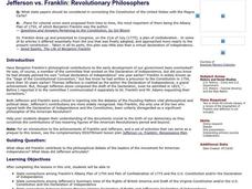Jefferson vs. Franklin: Revolutionary Philosophers Lesson Plan
