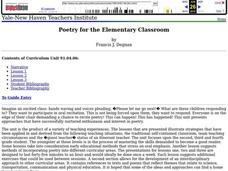 Poetry for the Elementary Classroom Lesson Plan