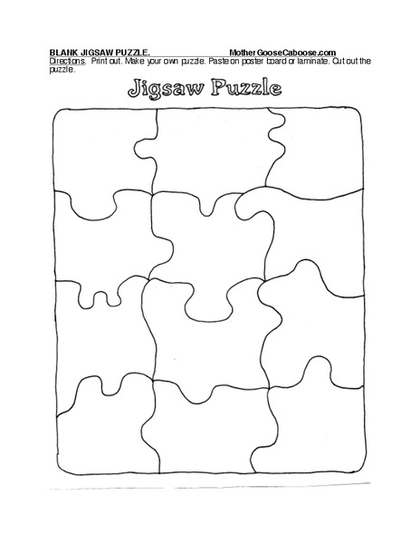graphic about Make Your Own Jigsaw Puzzle Printable identified as Jigsaw Puzzle Worksheet for Pre-K - Kindergarten Lesson World