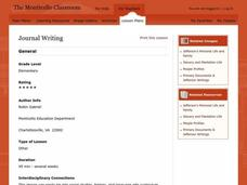 Journal Writing Lesson Plan