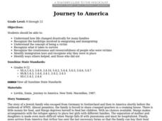 Journey to America Lesson Plan