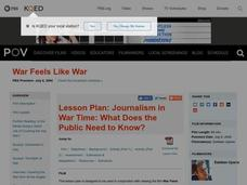Journalism in War Time: What Does the Public Need to Know? Lesson Plan